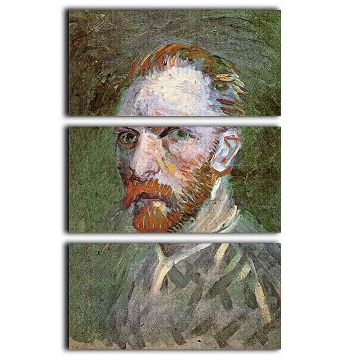 Self-Portrait 4 by Van Gogh 3 Split Panel Canvas Print