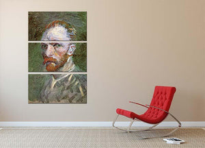 Self-Portrait 4 by Van Gogh 3 Split Panel Canvas Print - Canvas Art Rocks - 2