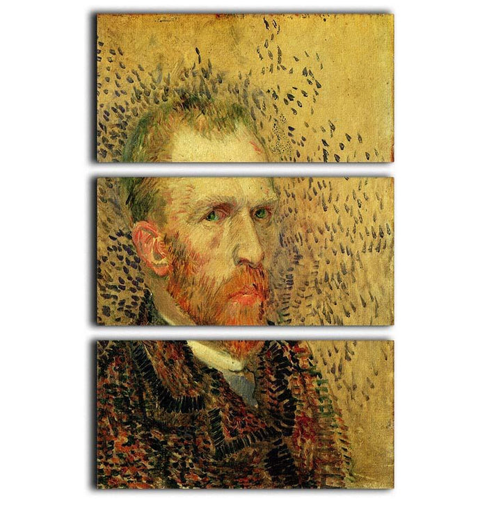 Self-Portrait 5 by Van Gogh 3 Split Panel Canvas Print