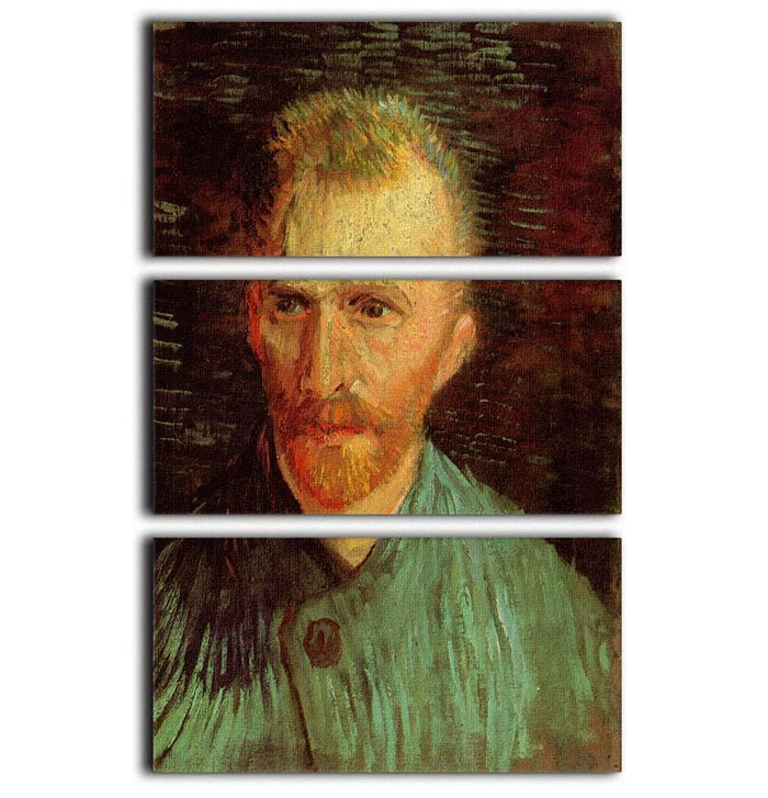 Self-Portrait 8 by Van Gogh 3 Split Panel Canvas Print