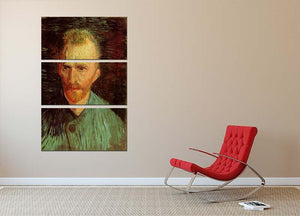 Self-Portrait 8 by Van Gogh 3 Split Panel Canvas Print - Canvas Art Rocks - 2