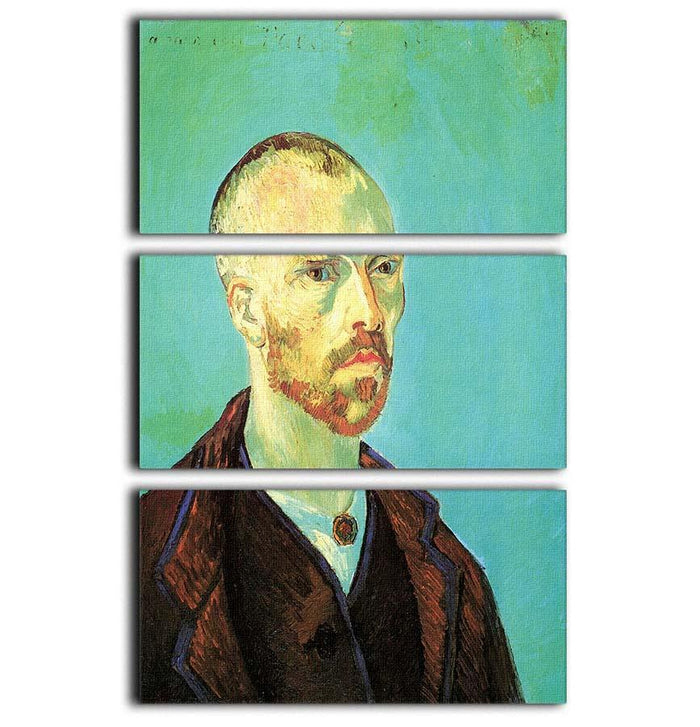 Self-Portrait Dedicated to Paul Gauguin by Van Gogh 3 Split Panel Canvas Print