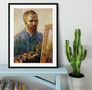 Self-Portrait in Front of the Easel by Van Gogh Framed Print - Canvas Art Rocks - 1