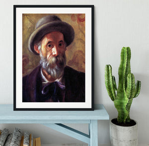 Self Portrait 1 by Renoir Framed Print - Canvas Art Rocks - 1