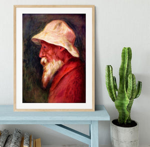 Selfportrait with white hat by Renoir Framed Print - Canvas Art Rocks - 3