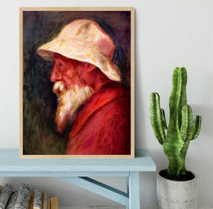 Selfportrait with white hat by Renoir Framed Print - Canvas Art Rocks - 4