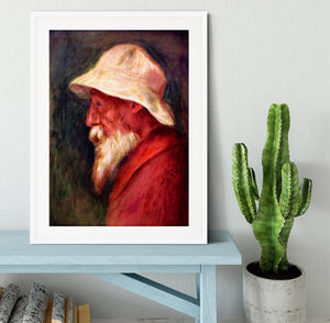 Selfportrait with white hat by Renoir Framed Print - Canvas Art Rocks - 5