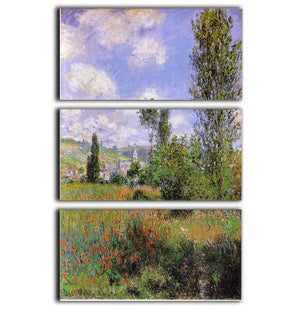 Sentier ile Saint Martin 1880 by Monet 3 Split Panel Canvas Print - Canvas Art Rocks - 1