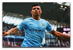 Sergio Aguero Manchester City Canvas Print or Poster  - Canvas Art Rocks - 1