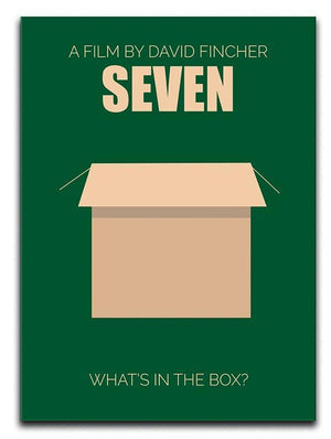 Seven Minimal Movie Canvas Print or Poster  - Canvas Art Rocks - 1