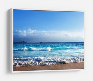 Seychelles beach in sunset time HD Metal Print