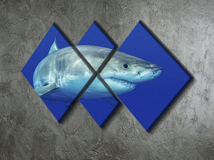 Shark swimming looking for food 4 Square Multi Panel Canvas  - Canvas Art Rocks - 2