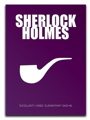 Sherlock Holmes Minimal Movie Canvas Print or Poster  - Canvas Art Rocks - 1