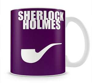 Sherlock Holmes Minimal Movie Mug - Canvas Art Rocks - 1