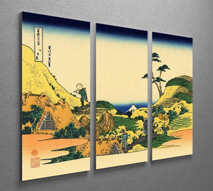 Shimomeguro by Hokusai 3 Split Panel Canvas Print - Canvas Art Rocks - 2