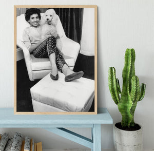 Shirley Bassey with her poodle Framed Print - Canvas Art Rocks - 4