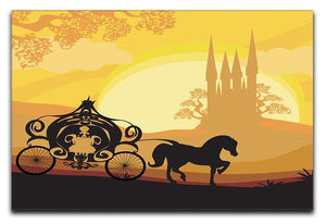 Silhouette of a horse carriage Canvas Print or Poster  - Canvas Art Rocks - 1