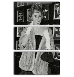 Singer Vera Lynn 3 Split Panel Canvas Print - Canvas Art Rocks - 1