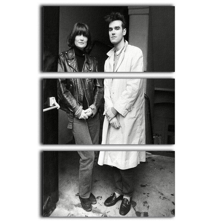 Singers Sandie Shaw and Morrissey 3 Split Panel Canvas Print
