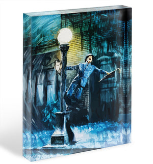 Singing In The Rain Acrylic Block - Canvas Art Rocks - 1