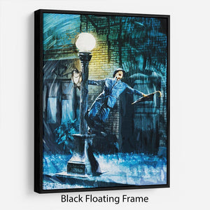 Singing In The Rain Floating Frame Canvas