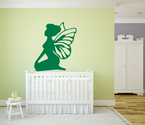 Sitting Fairy Wall Sticker - Canvas Art Rocks - 1