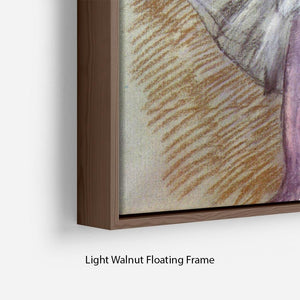 Sitting dancer lacing her slipper by Degas Floating Frame Canvas - Canvas Art Rocks - 8