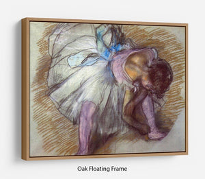 Sitting dancer lacing her slipper by Degas Floating Frame Canvas - Canvas Art Rocks - 9