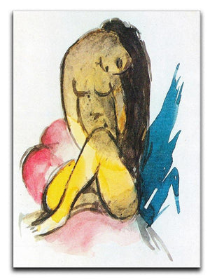 Sitting yellow lady by Franz Marc Canvas Print or Poster  - Canvas Art Rocks - 1