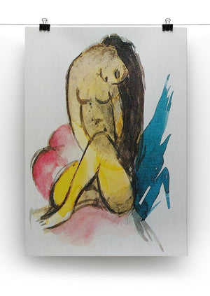 Sitting yellow lady by Franz Marc Canvas Print or Poster - Canvas Art Rocks - 2