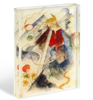 Sketch of the Brenner road 1 by Franz Marc Acrylic Block - Canvas Art Rocks - 1