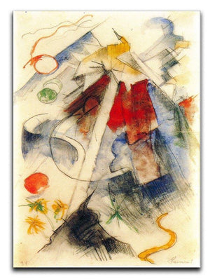 Sketch of the Brenner road 1 by Franz Marc Canvas Print or Poster  - Canvas Art Rocks - 1