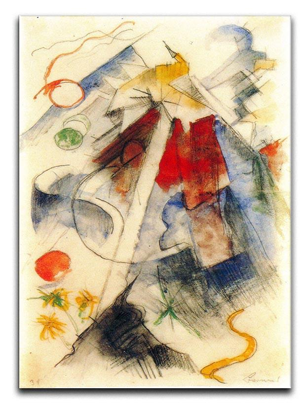 Sketch of the Brenner road 1 by Franz Marc Canvas Print or Poster