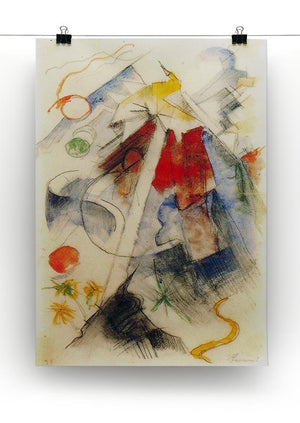 Sketch of the Brenner road 1 by Franz Marc Canvas Print or Poster - Canvas Art Rocks - 2