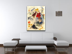 Sketch of the Brenner road 1 by Franz Marc Canvas Print or Poster - Canvas Art Rocks - 4