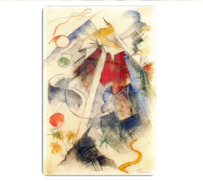 Sketch of the Brenner road 1 by Franz Marc HD Metal Print