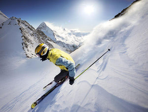Skier Wall Mural Wallpaper - Canvas Art Rocks - 1