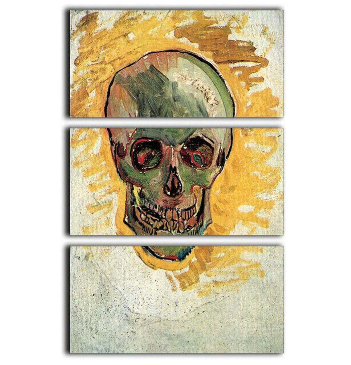 Skull by Van Gogh 3 Split Panel Canvas Print
