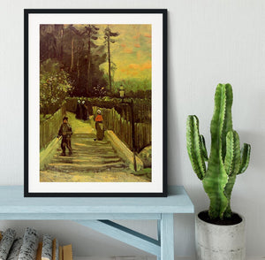 Sloping Path in Montmartre by Van Gogh Framed Print - Canvas Art Rocks - 1
