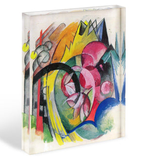 Small composition II by Franz Marc Acrylic Block - Canvas Art Rocks - 1