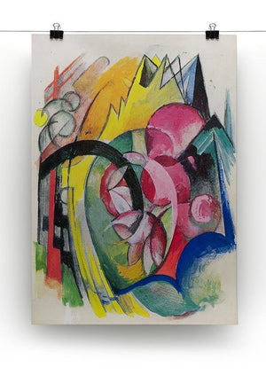 Small composition II by Franz Marc Canvas Print or Poster - Canvas Art Rocks - 2