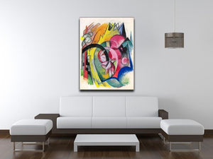 Small composition II by Franz Marc Canvas Print or Poster - Canvas Art Rocks - 4