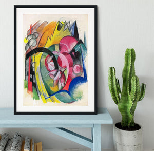 Small composition II by Franz Marc Framed Print - Canvas Art Rocks - 1