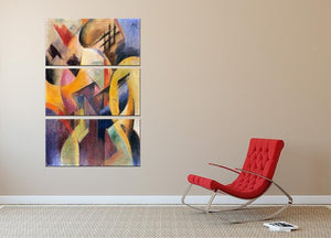 Small composition I by Franz Marc 3 Split Panel Canvas Print - Canvas Art Rocks - 2