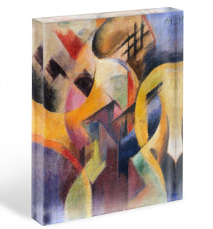 Small composition I by Franz Marc Acrylic Block - Canvas Art Rocks - 1