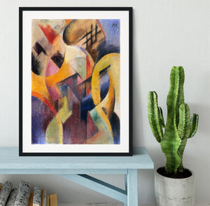 Small composition I by Franz Marc Framed Print - Canvas Art Rocks - 1