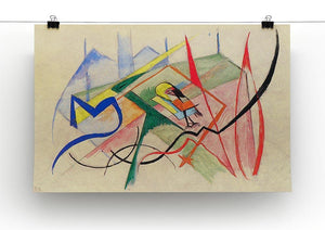 Small mythical creatures by Franz Marc Canvas Print or Poster - Canvas Art Rocks - 2