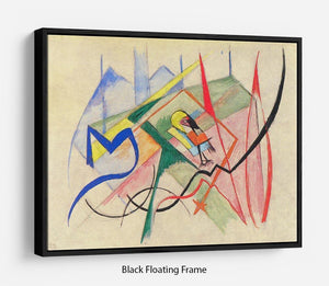 Small mythical creatures by Franz Marc Floating Frame Canvas
