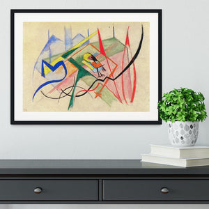 Small mythical creatures by Franz Marc Framed Print - Canvas Art Rocks - 1