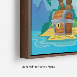 Small pirate island theme 2 Floating Frame Canvas